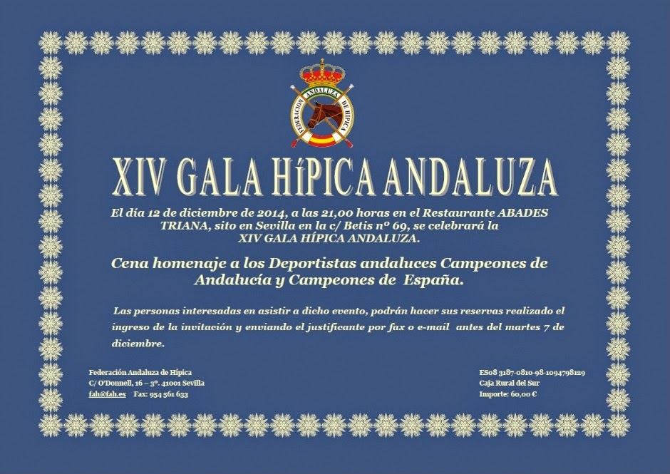 XIV Gala de la Federación Andaluza de Hípica